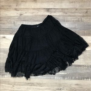 INTIMATELY FREE PEOPLE | Black Lace Sheer Skirt S